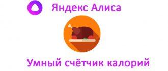 Умный счётчик калорий Яндекс Алиса