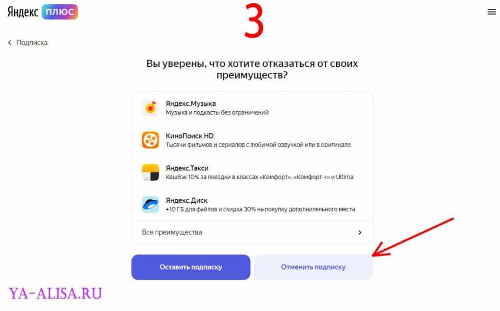 Отключаем Яндекс Плюс на ПК / Ноутбуке 3